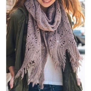 Lavender Feather Knit Bono Scarf